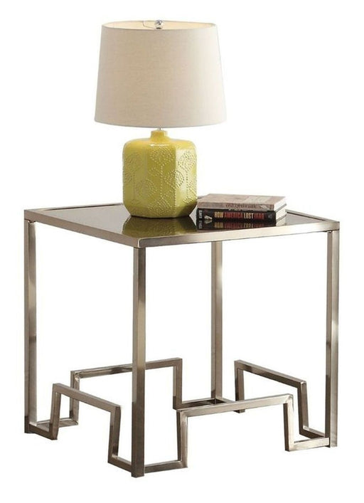 Acme Damien End Table in Champagne 81627 image