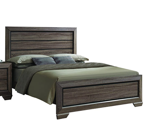 Acme Lyndon King Panel Bed in Weathered Gray Grain 26017EK image