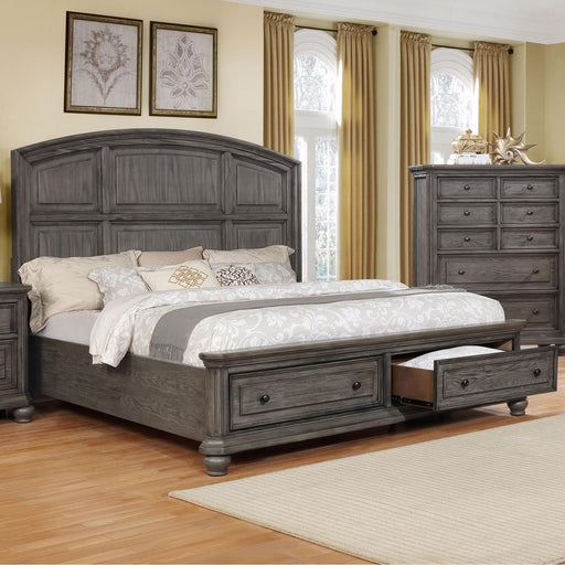 Crown Mark Furniture Lavonia Queen Storage Bed in Grey image