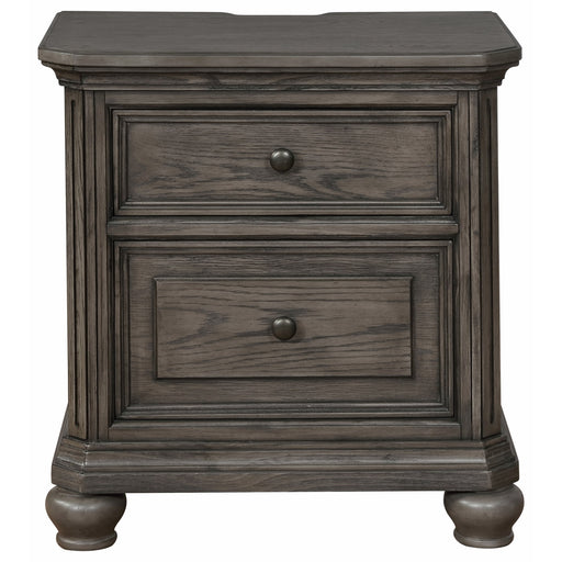 Crown Mark Lavonia 2 Drawer Nightstand in Grey B1880-2 image