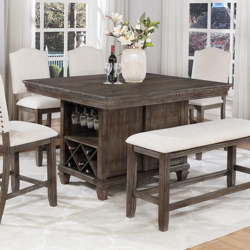Crown Mark Regent Counter Height Table in Warm Brown image