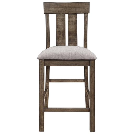 Crown Mark Quincy Counter Height Chair (Set of 2) in Light Brown 2831S-24 image