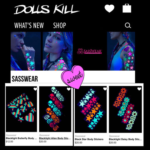 Sasswear Body Stickers on Dolls Kill