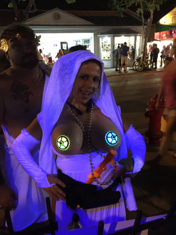 Fantasy Fest Star Wars Costume with LED Pasties