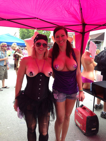 fantasy fest led nipple pasties costume
