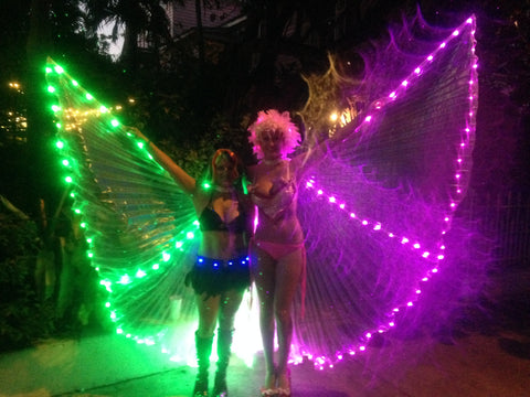 led isis wings fantasy fest costume