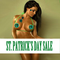 saint patricks day sale green clover pasties