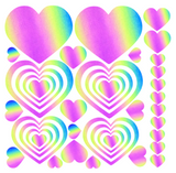Rainbow Reflective Pasties/Body Sticker Set - Heart - Sasswear
