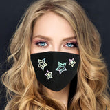 Face Mask | Rainbow Reflective Stars