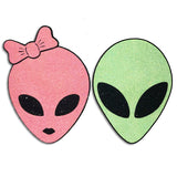 Reflective Girl Alien Pasties - Sasswear