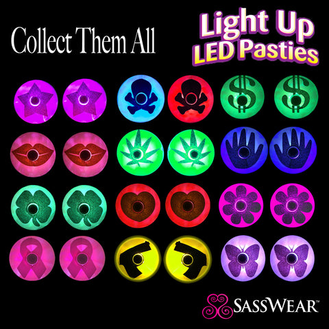 light up rave pasties glow costume