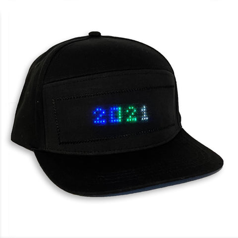 led bluetooth message hat