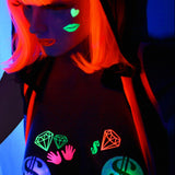 Bling Glow-in-the-Dark Body Stickers-Mini - Sasswear