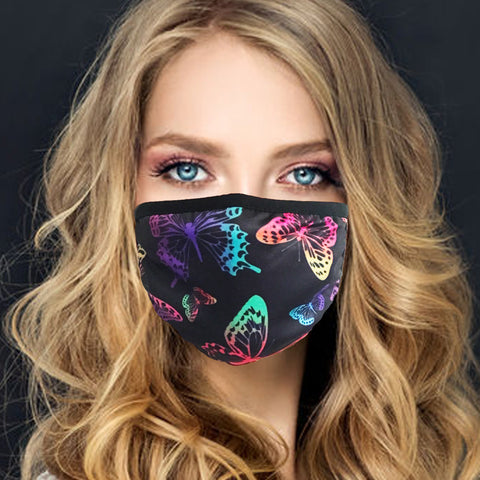 Face Mask | Neon Butterfly - Sasswear