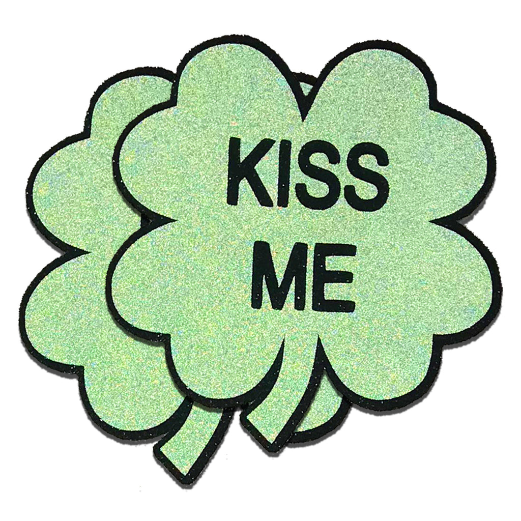 reflective clover kiss me pasties by sasswear