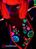 blacklight neon glow body stickers by Sasswear