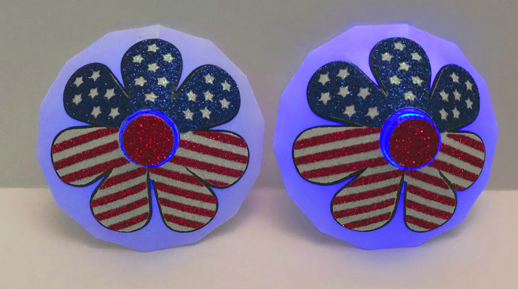 Daisy 4th of July LED Light Up Nipple Pasties