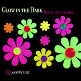 daisy glow body stickers by Sasswear