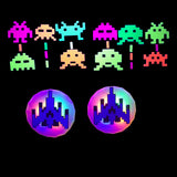 Galaga LED Pasties and Space Invader Glow Stickers by Sasswear
