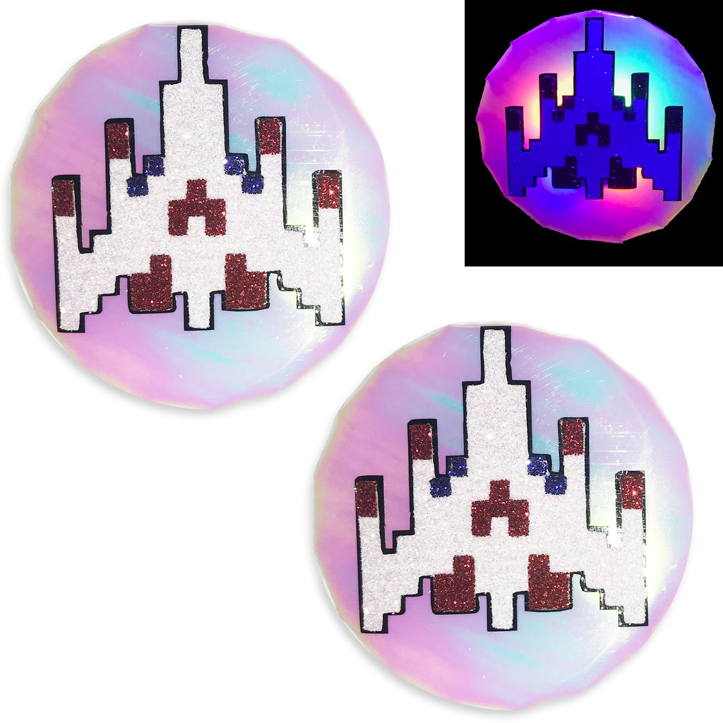 Galaga Guns LED Light Up Pasties by Sasswear