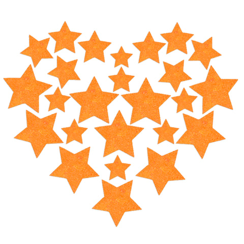 Glitz Nips Neon Orange UV Star Body Stickers
