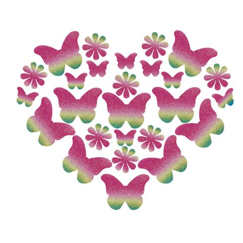 Glitz Nips Heart of a Butterfly Body Stickers