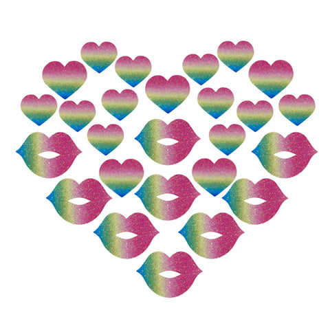 Glitz Nips Pastel Rainbow Love Body Stickers