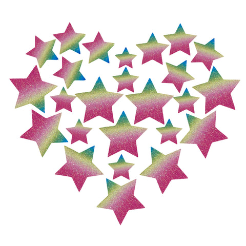Glitz Nips Pastel Rainbow Star Body Stickers