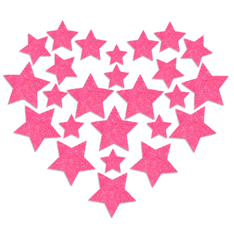 Glitz Nips Neon Pink UV Star Body Stickers