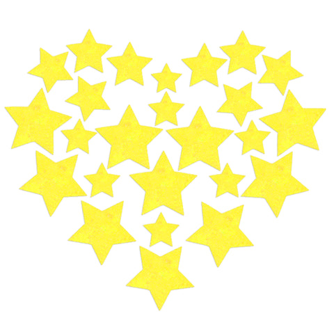 Glitz Nips Yellow UV Star Body Stickers
