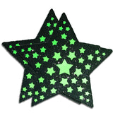 Neon Starburst Reflective Pasties by Sasswear