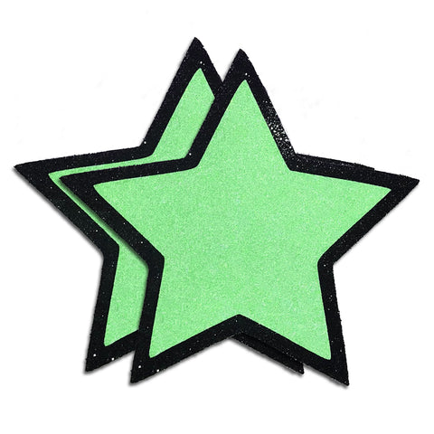 Neon Reflective Star Pasties by Sasswear