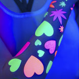 Glow in the Dark Heart Body Stickers