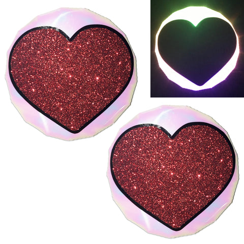 LED Nipple Pasties- Heart Clickers by Sasswear - Sasswear