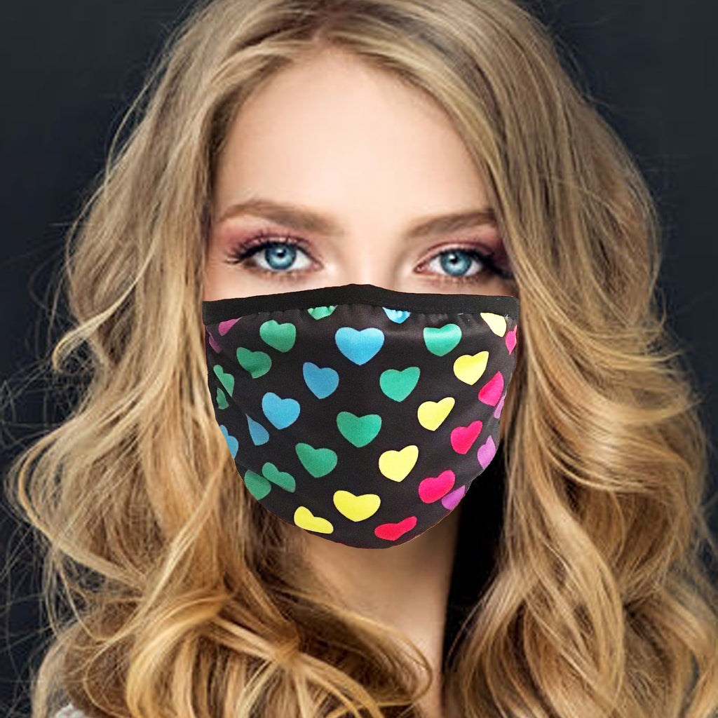 Face Mask | Rainbow Hearts - Sasswear