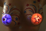 firework star pasties light up LED's twist on/off rave costume
