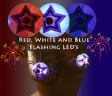 July 4th light up LED nipple pasties are very bright
