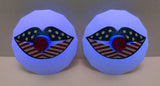 July 4th Light Up Nipple Pasties Kiss Lips