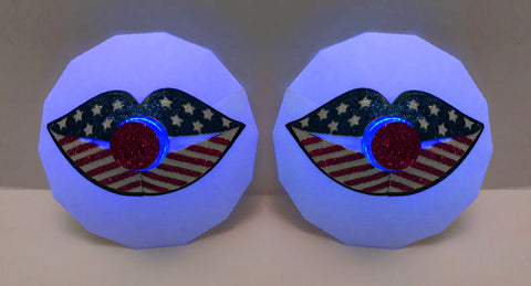 July 4th Lips LED Pasties - Sasswear