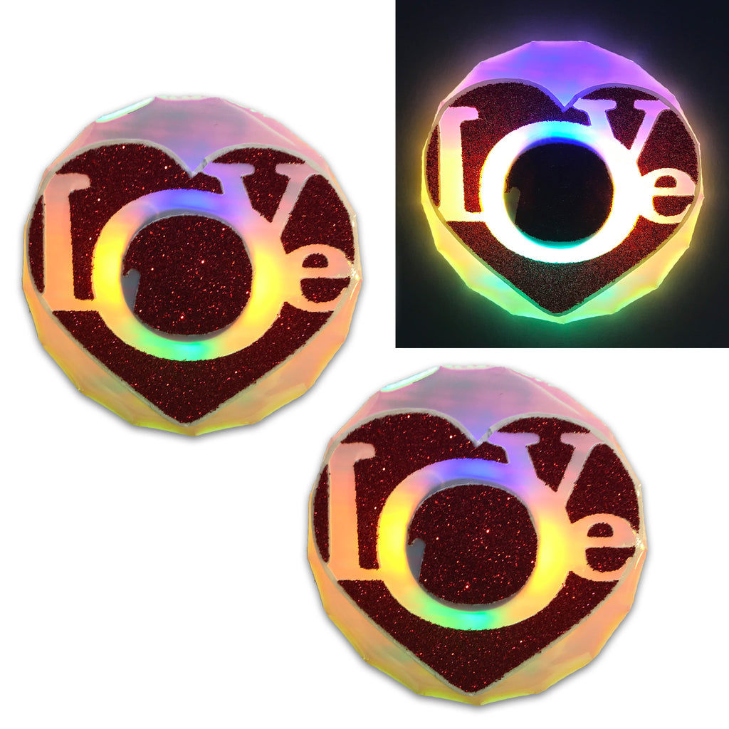 LED Nipple Pasties- Love Clickers by Sasswear - Sasswear