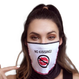 Face Mask Bandana | Red Lips/ No Kissing by Mapalé - Sasswear