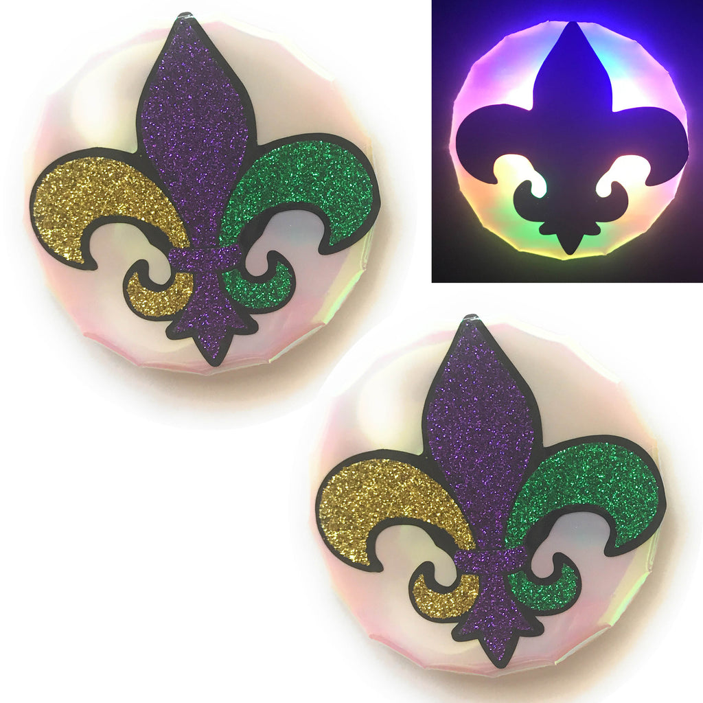 Mardi Gras fleur de lis Light-Up Pasties by Sasswear