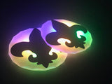 Mardi Gras fleur de lis Light Up Costume Pasties Nipple Covers