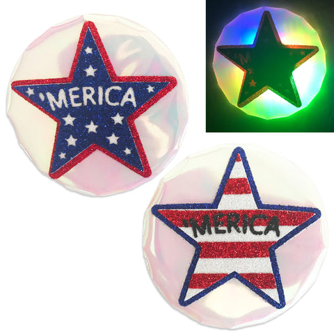 LED Nipple Pasties-July 4th Clickers by Sasswear - Sasswear