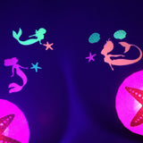 mermaid glow in dark body stickers by Sasswear