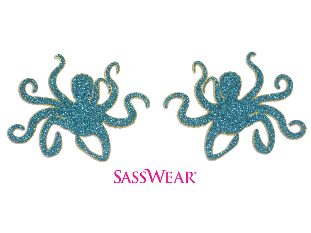 Glitter Stickers- Octopus by Sasswear