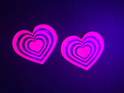 Blacklight Heart Nipple Pasties