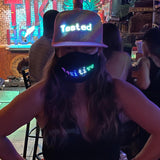 LED Bluetooth Light Up Message Hat (Pink)