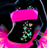 Rainbow Glitter Neon Glow Body Stickers by Sasswear