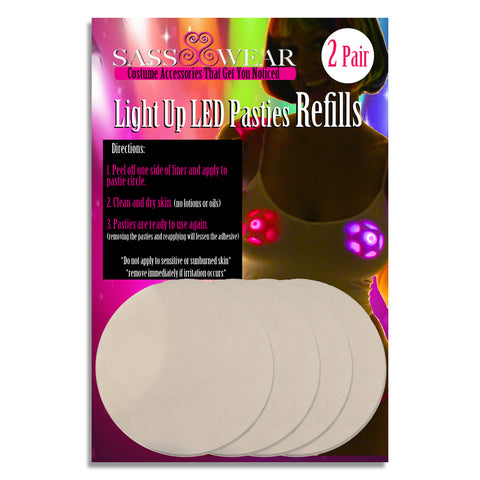 light up pasties tape adhesive skin safe